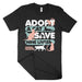 Adopt a cat save nine lives shirt animal rescue hearted