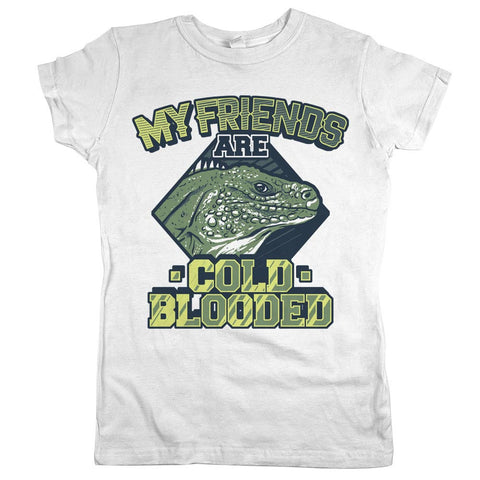 All My Friends Are Cold Blooded Womens Shirt White