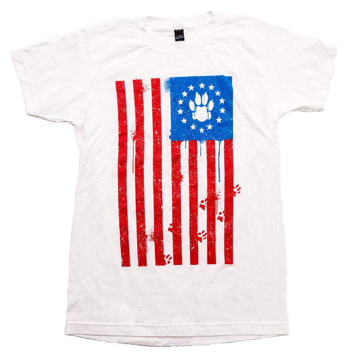 Animal Hearted Flag Paw Tee