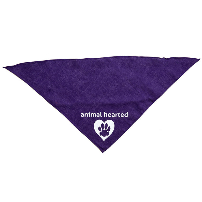 Animal Hearted Logo Bandana Purple