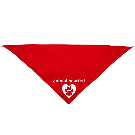 Animal Hearted Logo Bandana Red