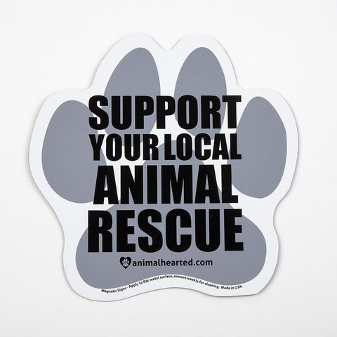 'Support Your Local Animal Rescue' Auto Magnet