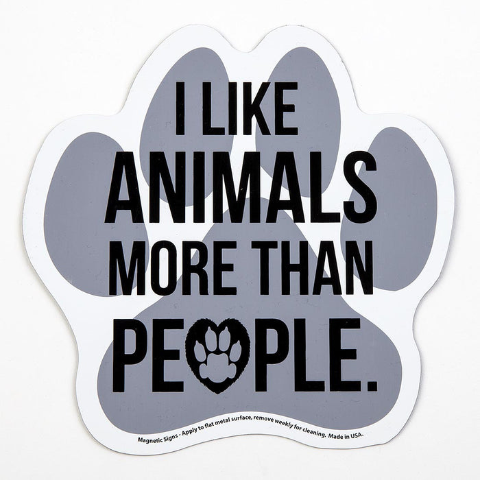 'I Like Animals More Than People' Auto Magnet