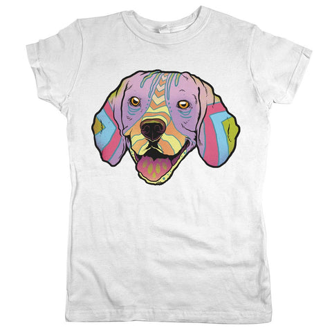 Beagle Womens JR Slim Fit Tee White