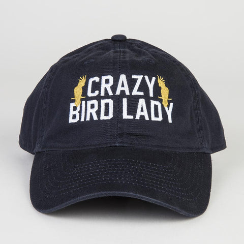 crazy bird lady bird hat