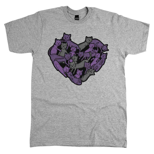 Heart of Cats Unisex Tee Athletic Grey