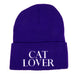 Purple Cat Lover Beanie/Hat