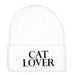 White Cat Lover Beanie