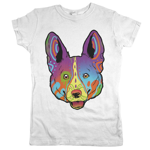 Corgi Womens JR Slim Fit Tee White