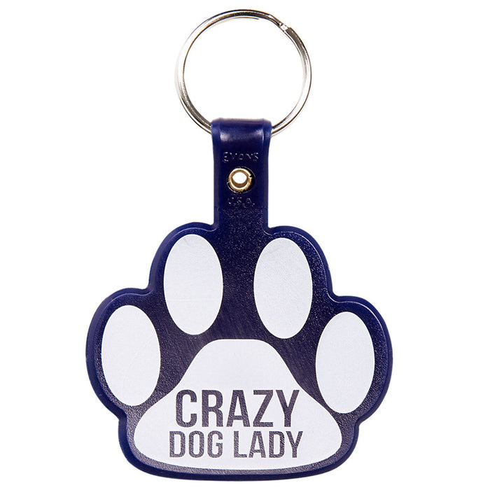 Crazy Dog Lady Keychain
