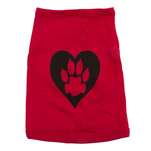Animal Hearted Logo Doggy Tank Top - Red