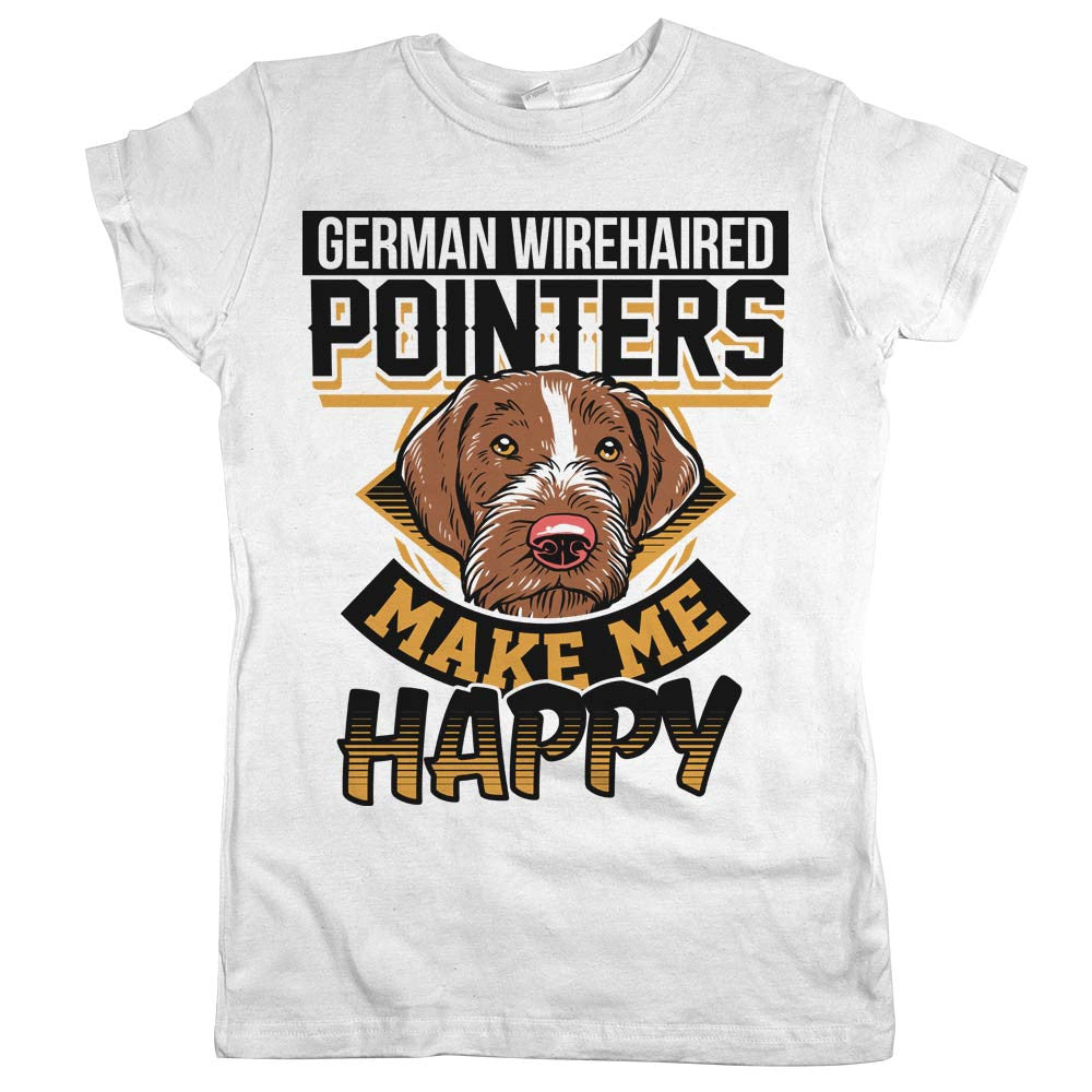 German Wirehaired Pointers Make Me Happy\' Shirt | Animal Hearted ...