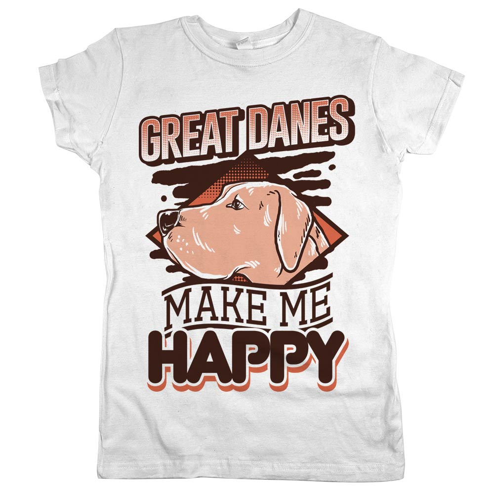 8ad9863f Great Danes Make Me Happy' Shirt | Animal Hearted – Animal Hearted ...