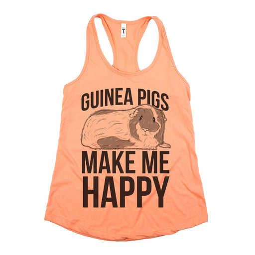 Guinea Pigs Make Me Happy Womens Tank Coral