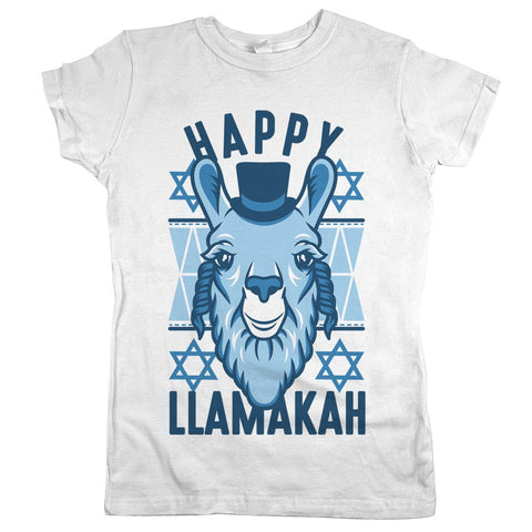 Happy Llamakah'	T-shirt White Womens