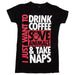 I-Just-Want-To-Drink-Coffee-Save-Animals-womens-Tee-Black