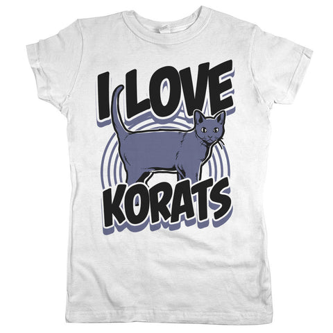 I Love Korats Womens JR Slim Fit Tee White