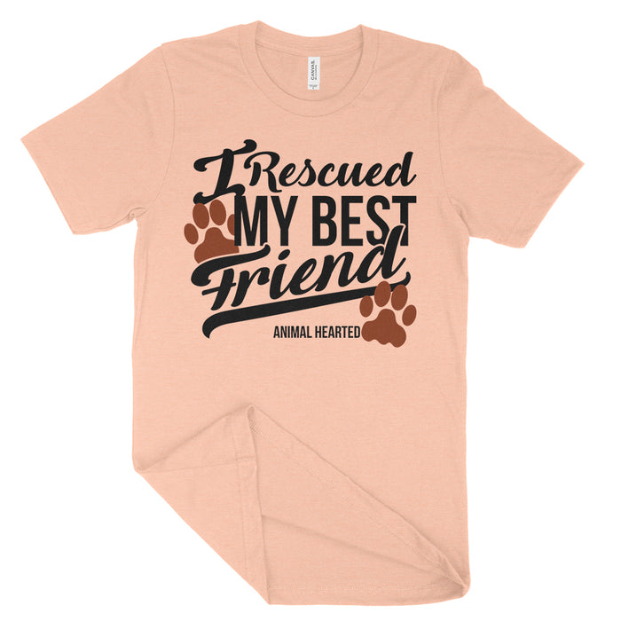 I rescued my best friend shirt animal rescue tee