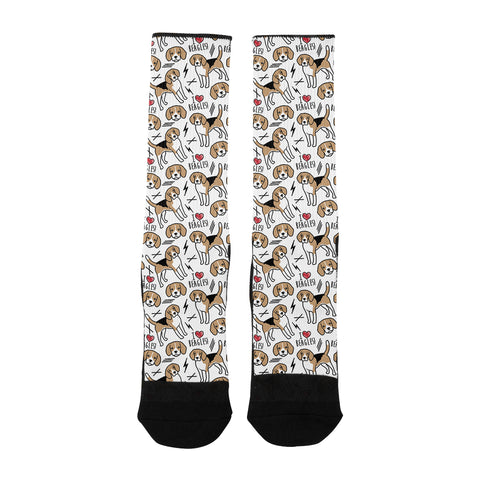 I Love Beagles Socks