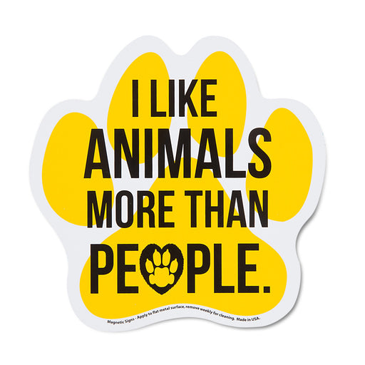 I Like Animals More Than People Auto Magnet