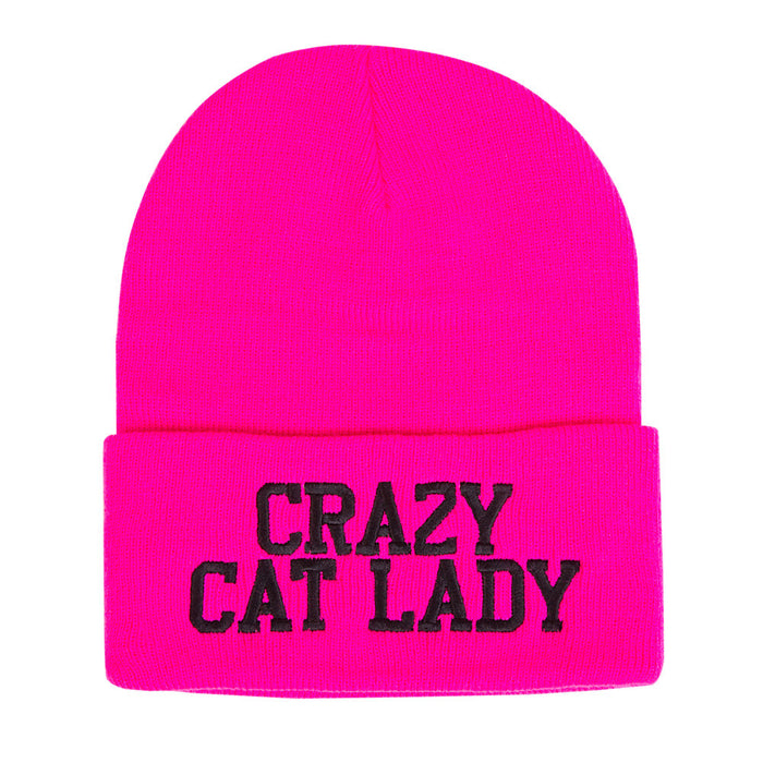Crazy Cat Lady Beanie Cap Hat