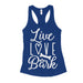 Live Love Bark Womens Tank For Dog Owners