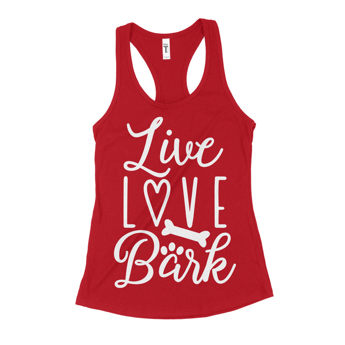 Live Love Bark Womens Dog Tank Top