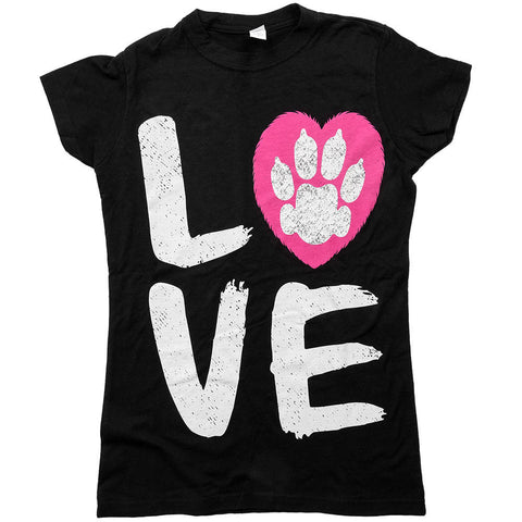 Animal Hearted LOVE Womens Jr Fit Tee