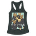 meows cat friends parody tank top