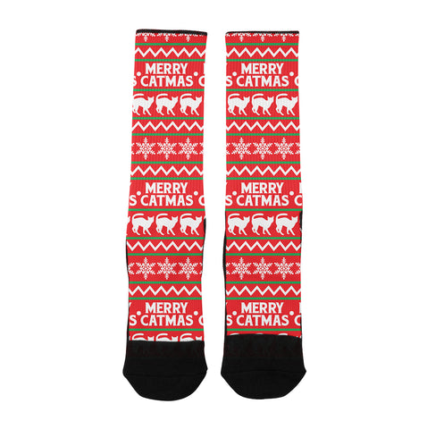'Merry Catsmas Holiday Socks'