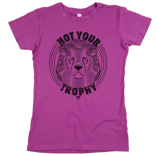Not Your Trophy Womens Tee Purple