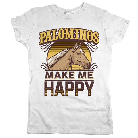 Palominos Make Me Happy Womens Shirt White