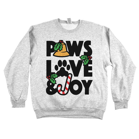 Paws Love & Joy Unisex Sweatshirt Ash Grey