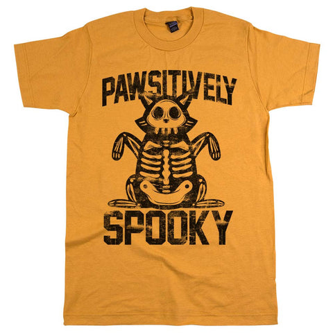 Pawsitively Spooky Cat Unisex Tee Ginger