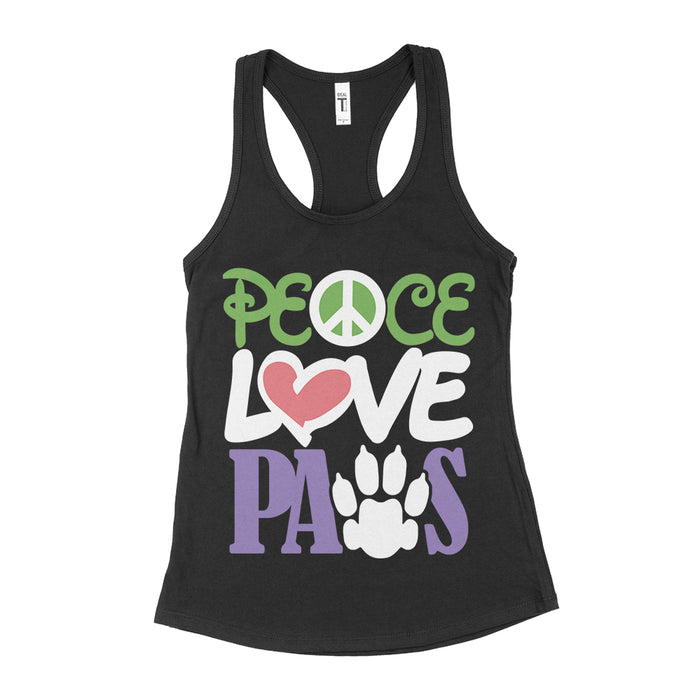 Peace Love Paws Racerback Tank Top