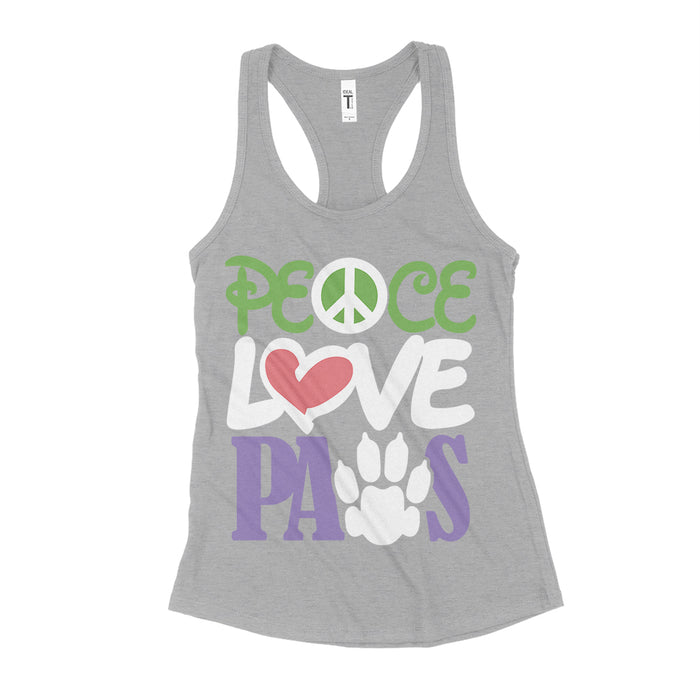 Peace Love Paws Womens Tank Top