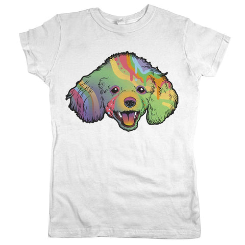 Poodle Womens JR Slim Fit Tee White