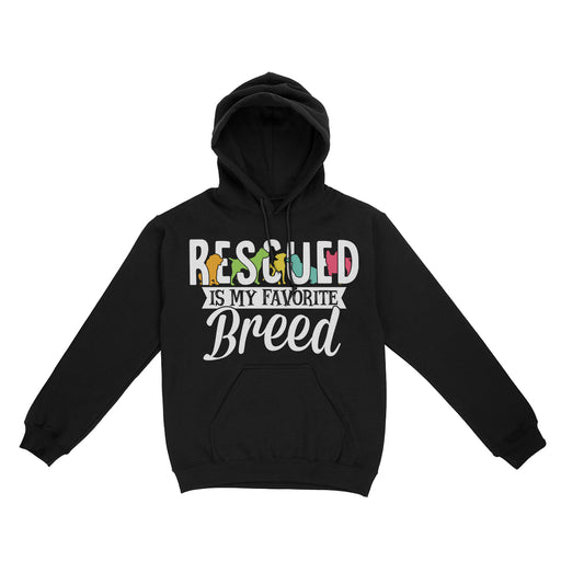 Rescued Is My Favorite Breed Hoodie Sweatshirt