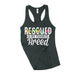 womens animal rescue racerback tank top