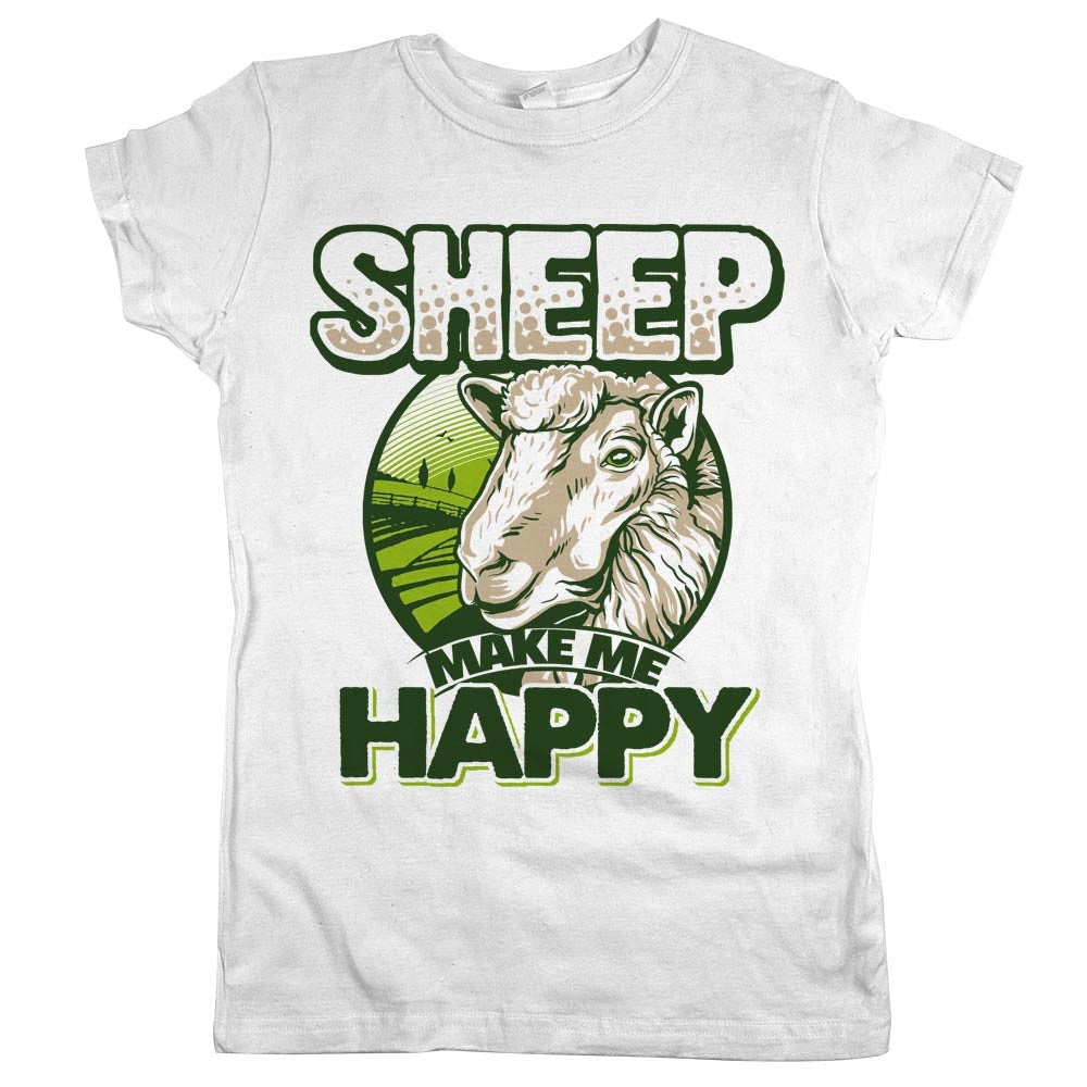 e99745f0 Sheep Make Me Happy' Shirt | Animal Hearted – Animal Hearted Apparel