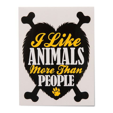 I Like Animals More Than people Sticker - Gifts For Animal Lovers
