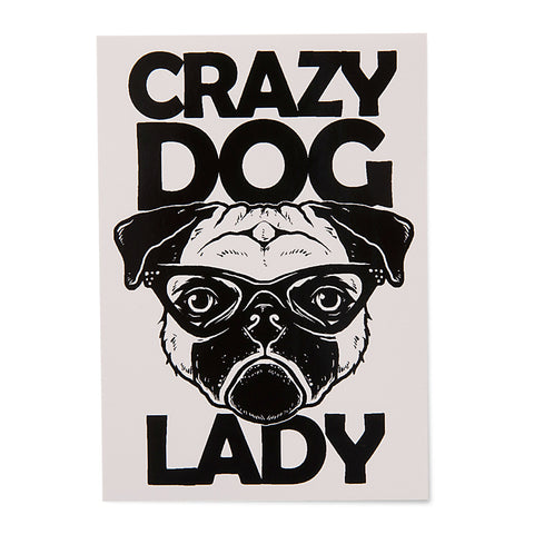 Crazy Dog Lady Sticker - Gifts For Dog Lovers