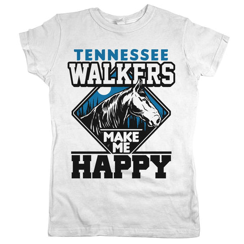 Tennessee Walkers Make Me Happy Womens Shirt White