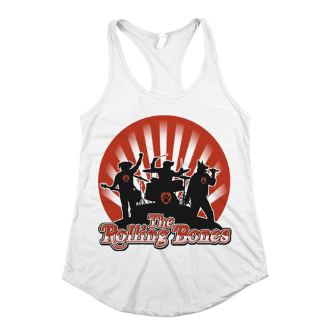 The Rolling Bones Racerback Tank Top White Womens