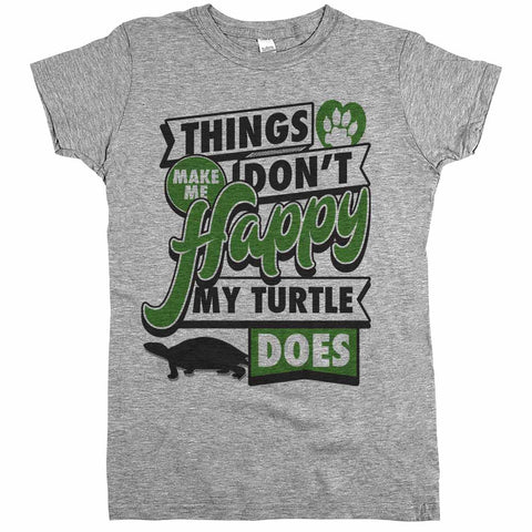 Things Don't Make Me Happy My Turtle Does Womens Shirt Athletic Grey