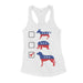 Vote Dogs Parody Shirt Womens Tank Top Republican Democrat