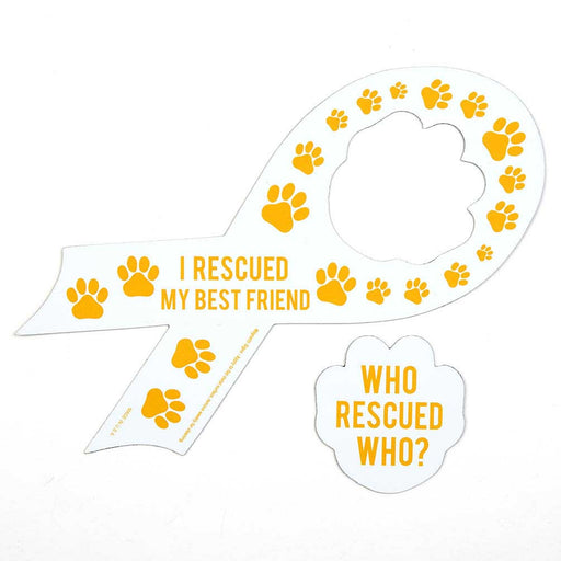 Who Rescued Who/I Rescued My Best Friend' Auto Magnets