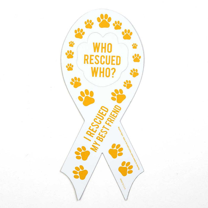 Who Rescued Who/I Rescued My Best Friend' Auto Magnet Set