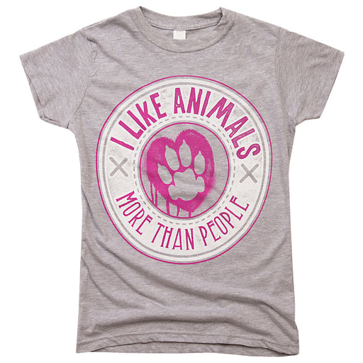 I Like Animals More Than People Women's Tee - Gifts For Animal Lovers