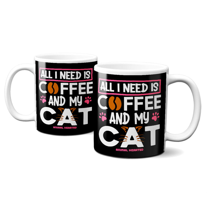 All I Need Is Coffee And My Cat Mugs